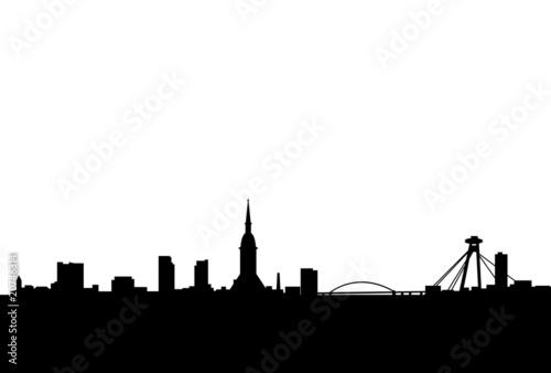 bratislava city vector skyline Wallpaper Mural