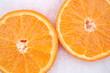Pomarańcza na śniegu