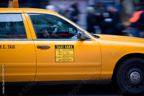 Staande foto New York TAXI New York Cab, Manhattan, New York City, United States