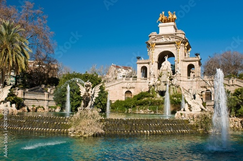 Papiers peints Barcelona fountain in park De la Ciutadella in barcelona, catalonia, spain