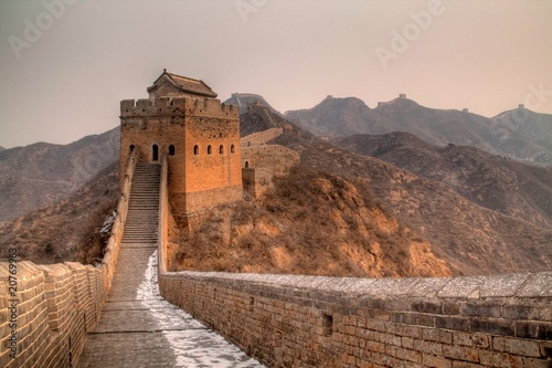 Montage in der Fensternische Chinesische Mauer Great Wall of China