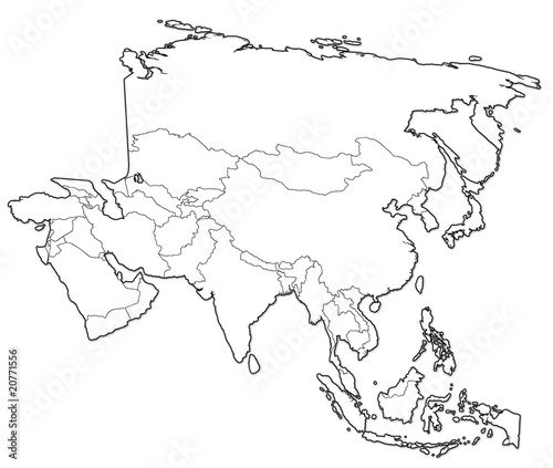 Photo Stands World Map political map of asia