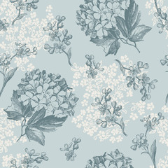 retro floral wallpaper - tiles seamlessly