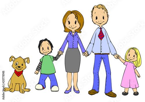 Familie Mutter Sohn Tochter