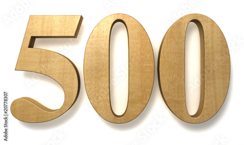 Fotografia  500 wooden birthday celebration anniversary