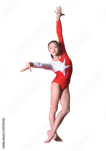 Fotografía girl in gymnastics poses