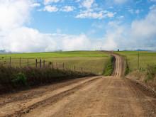 Estrada Deserta No Campo
