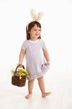 Little Girl In Easter Costume