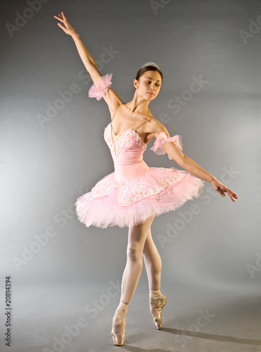 Ballerina's toe dance isolated Poster