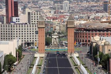 Fototapeta Barcelona Barcelona - famous Placa d'Espanya