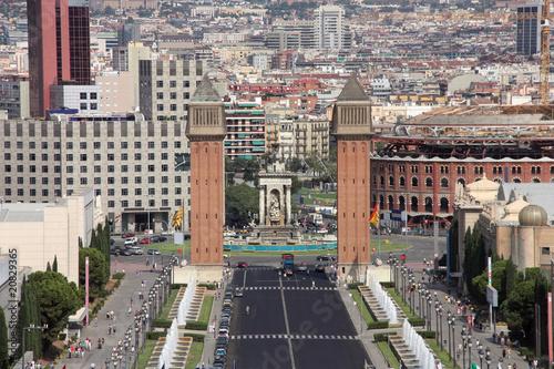 Barcelona - famous Placa d'Espanya - 20829365