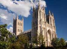 Side View Of National Cathedral