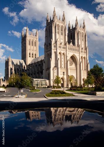 Reflection of Washington Cathedral