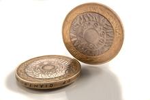 British Two Pound Coins.