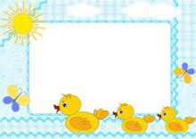 Children's Photo Framework. Ducklings.