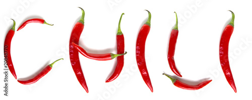Staande foto Hot chili peppers Chili
