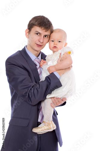 Fotobehang womenART Father and daughter
