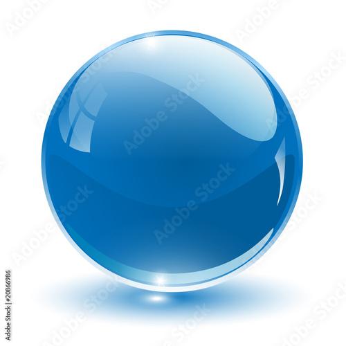 Fotografie, Obraz  3D crystal sphere