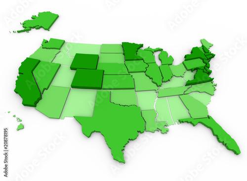 Per Capita Income - United States Map
