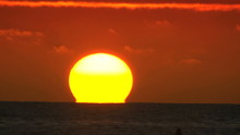 Time-lapse Of Full Sun Setting...