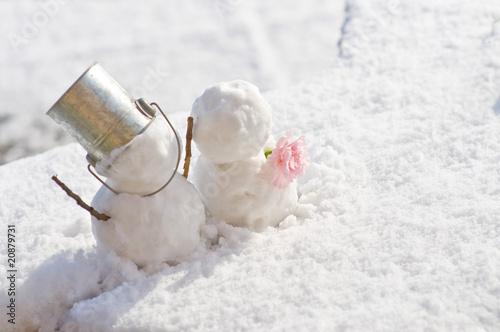 Obraz na plátně  雪だるま