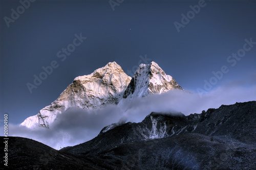 Foto auf AluDibond Nepal Ama Dablam - Solo Khumbu, Himalaja, Nepal