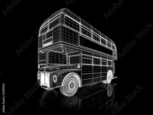 Obraz na plátně Double deck bus - 3d construction