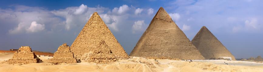 Great Pyramids, located in Giza.