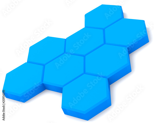 Blu cells isolated on white