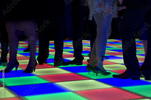 Obraz Colorful led dance floor - fototapety do salonu