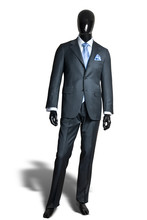 Business Dark Grey Suite On Ma...