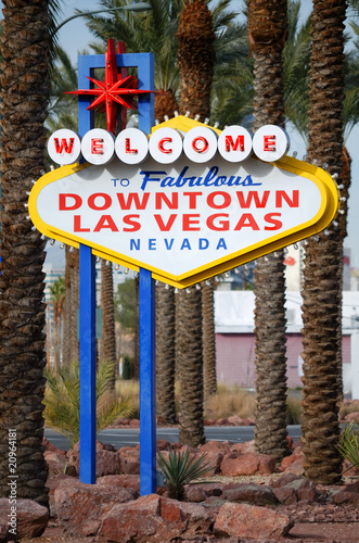 Foto op Canvas Las Vegas Downtown Las Vegas sign