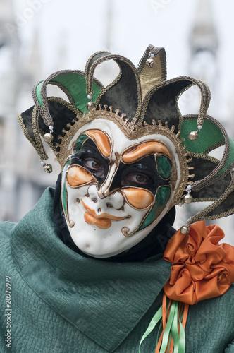 Fotobehang Schilderkunstige Inspiratie Venice Carnival Mask