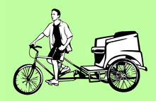 Pedicab And Driver