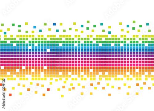 Foto op Aluminium Pixel Mosaic Rainbow