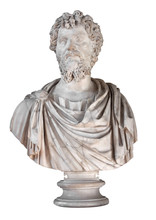 Ancient Marble Bust Of The Roman Emperor Septimius Severus