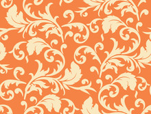 Vector. Seamless Leaf Pattern