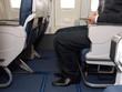 Legroom on plane