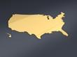 Usa Karte goldig