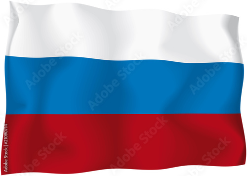 Fotografie, Tablou  Russia - Russian flag
