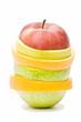 variedad de frutas cortadas en rodajas