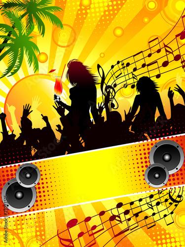 Fotografie, Obraz  Tropical party flyer