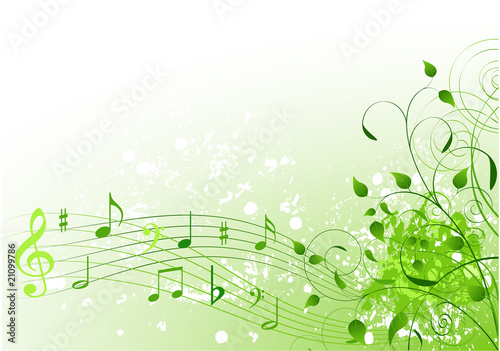 Poster Magie Spring song background