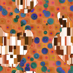 Panel Szklany Klimt inspired abstract texture