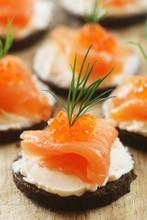 Canapés With Smoked Salmon