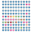 Collection of 121 pictos glossy icons web 2.0