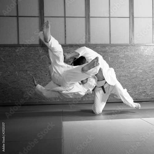 Photo  judo fight