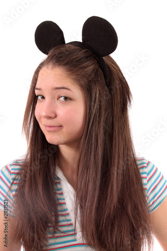 Photo girl about ears