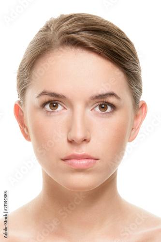 Portrait of beauty teenage girl