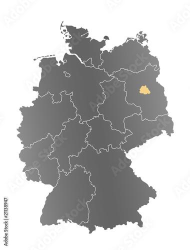 Deutschlandkarte Berlin Buy This Stock Photo And Explore Similar
